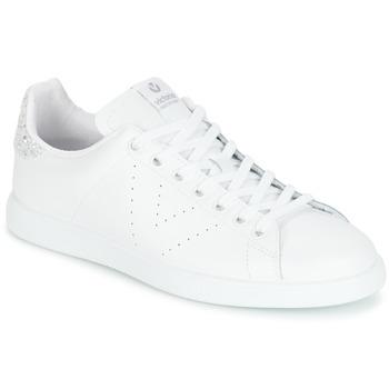Chaussures Femme Baskets basses Victoria DEPORTIVO BASKET PIEL Blanc / Argenté