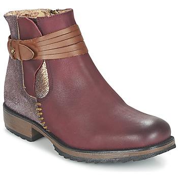 Chaussures Femme Boots Bunker TAYLOR Bordeaux