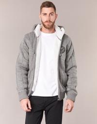 Vêtements Homme Gilets / Cardigans Schott DUNLIN Gris