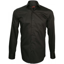 Vêtements Homme Chemises manches longues Andrew Mac Allister chemise col crocodile spark noir Noir
