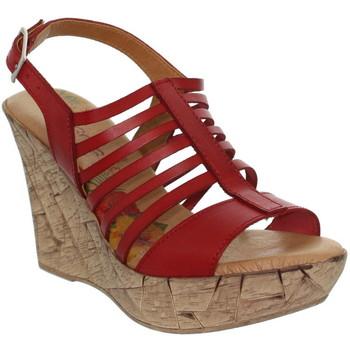 Chaussures Femme Sandales et Nu-pieds Marila Talons compensés  ref_neox39489-rouge Rouge