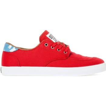 Chaussures Homme Chaussures de Skate Lakai BELMONT red canvas collab quiet life Rouge