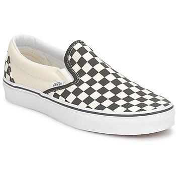 Chaussures Slip ons Vans CLASSIC SLIP ON Noir / Blanc