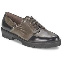 Chaussures Femme Derbies Wonders CAMMA Noir / Gris