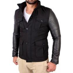 Vêtements Homme Vestes Young & Rich Manteau tendance homme Manteau YR496 noir Noir