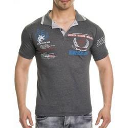 Vêtements Homme T-shirts & Polos Tazzio Polo tendance homme Polo 308 gris foncé Gris