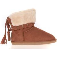 Chaussures Femme Boots Ilario Ferucci Boots Rebus Camel Marron