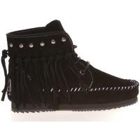 Chaussures Femme Mocassins Ilario Ferucci Mocassin Renouee Noir Noir