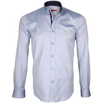 Vêtements Homme Chemises manches longues Andrew Mac Allister chemise oxford brookes bleu Bleu