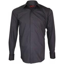 Vêtements Homme Chemises manches longues Andrew Mac Allister chemise double fil 100/2 business gris Gris