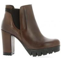 Chaussures Femme Bottines Pao Boots cuir nubuck Marron