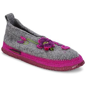 Chaussures Femme Chaussons Giesswein TANGERHÜETTE Gris
