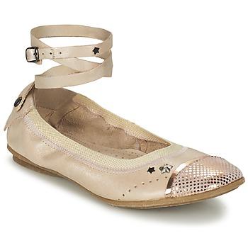 Chaussures Fille Ballerines / babies Ikks EMILY Beige / Rose