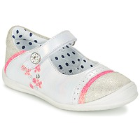 Chaussures Fille Ballerines / babies Catimini PIPISTRELLE VTE BLANC-FLUO DPF/ZAFRA