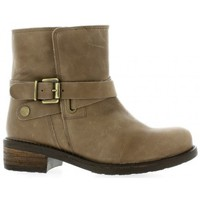 Chaussures Femme Bottines We Do Boots cuir Taupe
