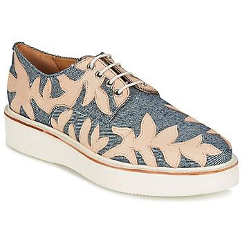Chaussures Femme Derbies Melvin & Hamilton MOLLY 11 Bleu / Beige