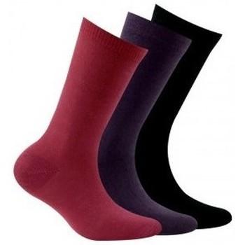 Accessoires Enfant Chaussettes Kindy Pack 3 paires de chaussettes unies jersey Noir rose