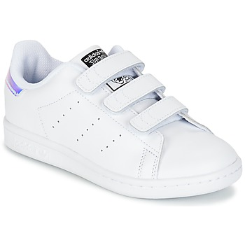Chaussures Fille Baskets basses adidas Originals STAN SMITH CF C Blanc