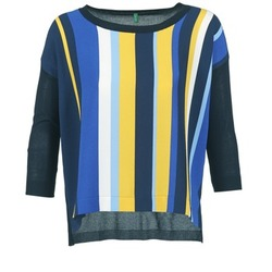 Vêtements Femme Pulls Benetton OVEZAK Bleu / Jaune / Blanc