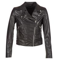 Vêtements Femme Vestes en cuir / synthétiques Benetton FAJOLI Noir
