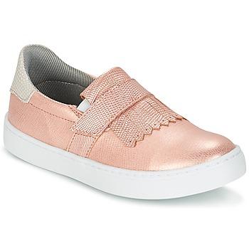 Chaussures Fille Slip ons Bullboxer ADJAGUE Rose / Or