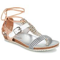 Chaussures Femme Sandales et Nu-pieds Regard RABALU Blanc / Beige / Serpent