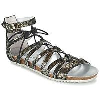 Chaussures Femme Sandales et Nu-pieds Regard RABAZO Noir / Argenté