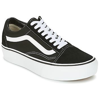 Chaussures Femme Baskets basses Vans UA OLD SKOOL PLATFOR Noir / Blanc