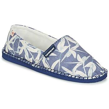 Chaussures Espadrilles Havaianas ORIGINE ORQUIDEAS Marine / Blanc