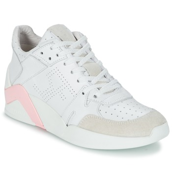 Chaussures Femme Baskets montantes Serafini CHICAGO Blanc / Rose