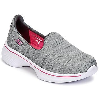 Chaussures Fille Slip ons Skechers GO WALK 4 Gris