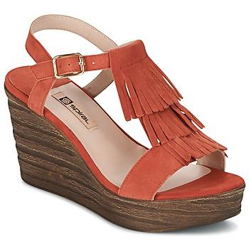 Chaussures Femme Sandales et Nu-pieds Spiral CARLA Orange