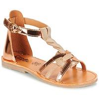 Chaussures Fille Sandales et Nu-pieds Citrouille et Compagnie GITANOLO Beige / Cuivre