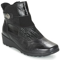 Chaussures Femme Bottines Romika Carree 16 schwarz