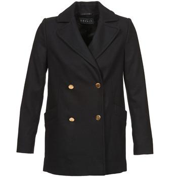 Vêtements Femme Manteaux Esprit WATTS Noir