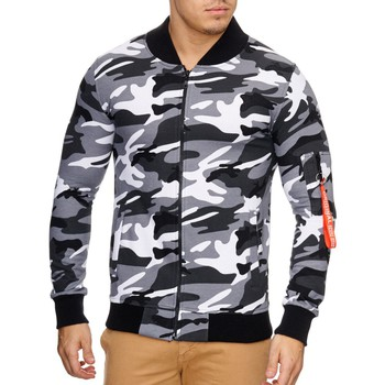 Vêtements Homme Vestes Violento Veste zipée impression camouflage Veste 795 camo blanc Blanc