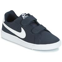 Chaussures Garçon Baskets basses Nike COURT ROYALE PRESCHOOL Bleu / Blanc