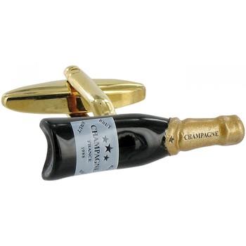 Montres & Bijoux Homme Boutons de manchettes Andrew Mac Allister boutons de manchettes champagne Doré