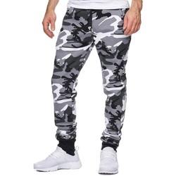 Vêtements Homme Pantalons de survêtement Violento Jogging homme imprimé camouflage Jogging 794 blanc Blanc