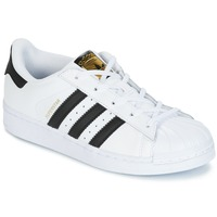 Chaussures Enfant Baskets basses adidas Originals SUPERSTAR Blanc / noir