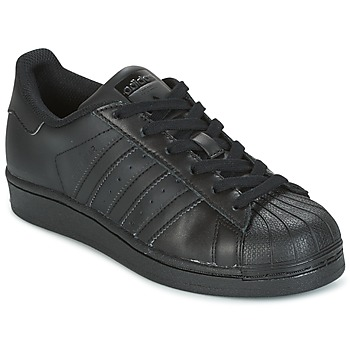 Chaussures Enfant Baskets basses adidas Originals SUPERSTAR Noir