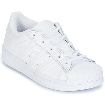 Chaussures Enfant Baskets basses adidas Originals SUPERTSAR Blanc