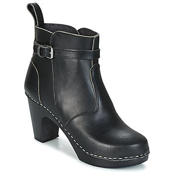 Chaussures Femme Bottines Swedish hasbeens HIGH HEELED JODHPUR noir