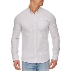 Vêtements Homme Chemises manches longues Tazzio Chemise raffinée pour homme Chemise 708 blanc Blanc