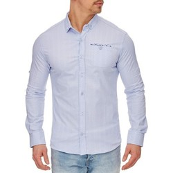 Vêtements Homme Chemises manches longues Tazzio Chemise mouchetée pour homme Chemise 708 bleu ciel Bleu