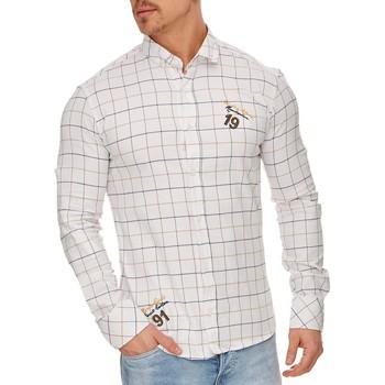 Vêtements Homme Chemises manches longues Tazzio Chemise carreaux pour homme Chemise 706 blanc Blanc