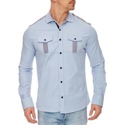 Vêtements Homme Chemises manches longues Tazzio Chemise élégante pour homme Chemise 703 bleu clair Bleu