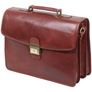 Sacs Homme Porte-Documents / Serviettes Katana Cartable Cuir de Vachette gras K31033 Marron