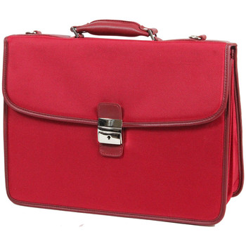 Sacs Homme Porte-Documents / Serviettes Katana Cartable Nylon Garni Cuir de Vachette K16042 Rouge