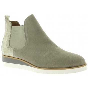 Chaussures Femme Boots We Do Boots cuir velours Beige